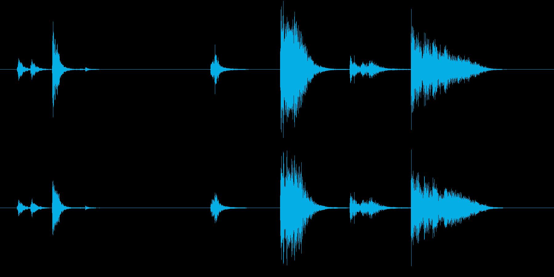 【生録音】お箸の音 30 食べ終わるの再生済みの波形