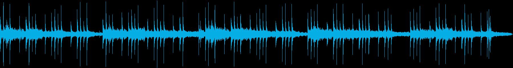 乾いた音の不気味な雰囲気のループ用楽曲の再生済みの波形