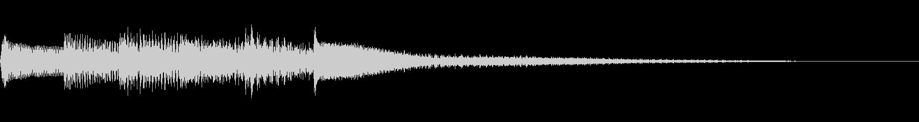 【生演奏】心安らぐピアノジングルの未再生の波形