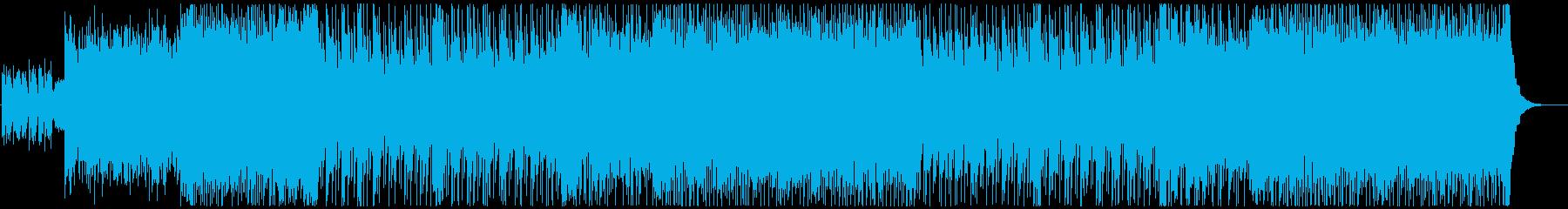 ポップでキラキラ可愛いBGMの再生済みの波形