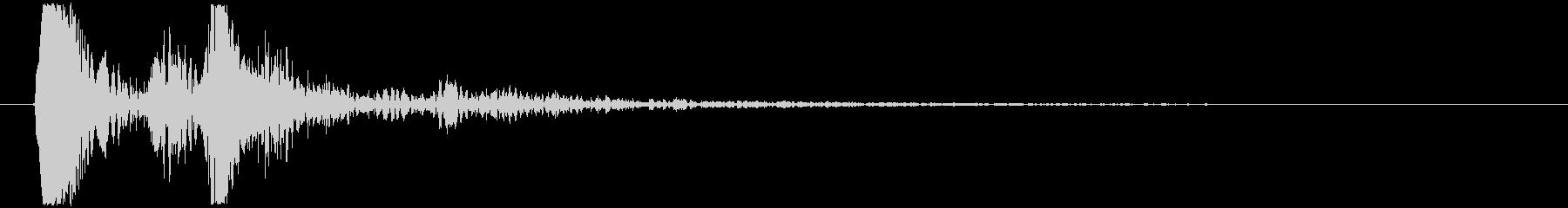アイテムやキャラが出てくる時の様な効果音の未再生の波形