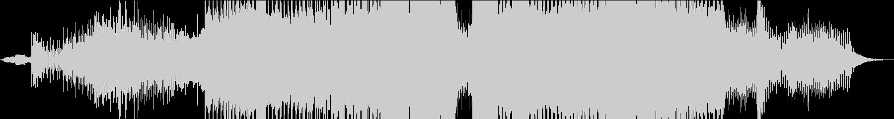 ダークな洋画の戦闘シーン風テクノの未再生の波形