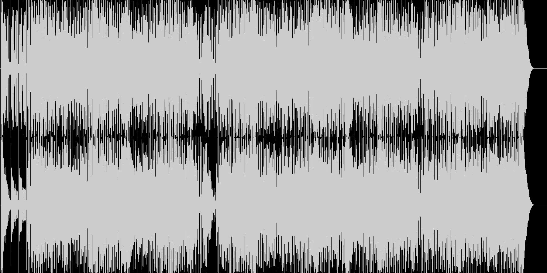 エキゾチックでノリノリなユーロビートの未再生の波形