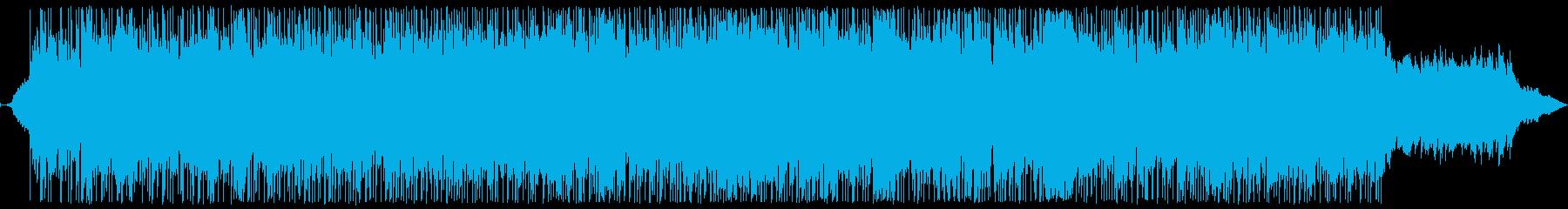 宇宙を航海するようなイメージの曲ですの再生済みの波形