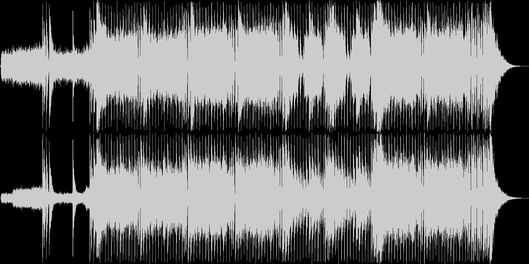 バトルシーンにぴったりのかっこいいロックの未再生の波形