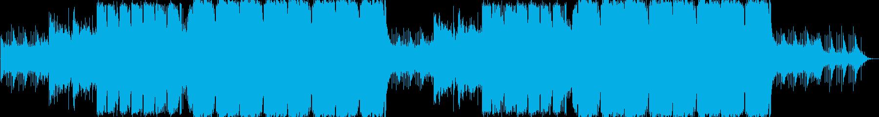 感動的で幸せな瞬間を演出するBGMの再生済みの波形