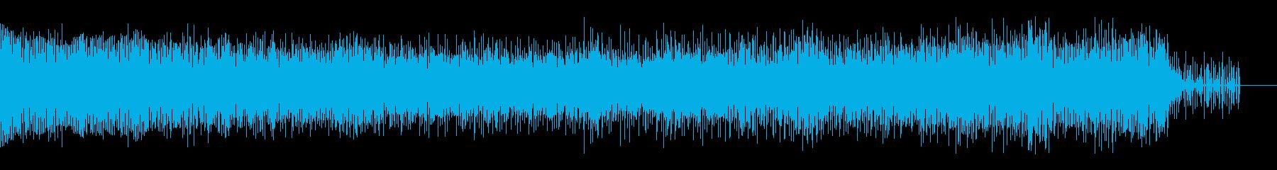 暗くも明るくもない曲の再生済みの波形
