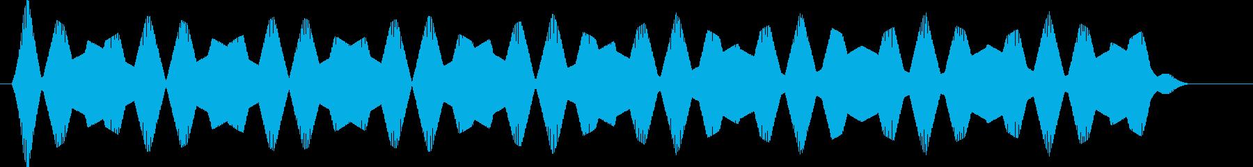 UFOが現れた効果音の再生済みの波形