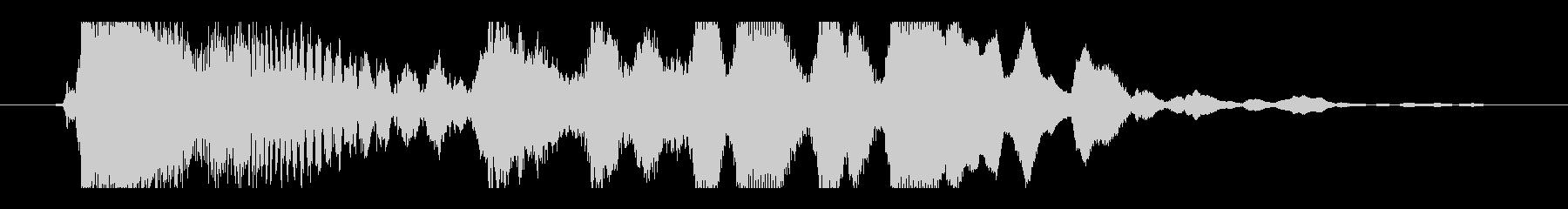 チュイーン(パチンコ当たりの音)の未再生の波形