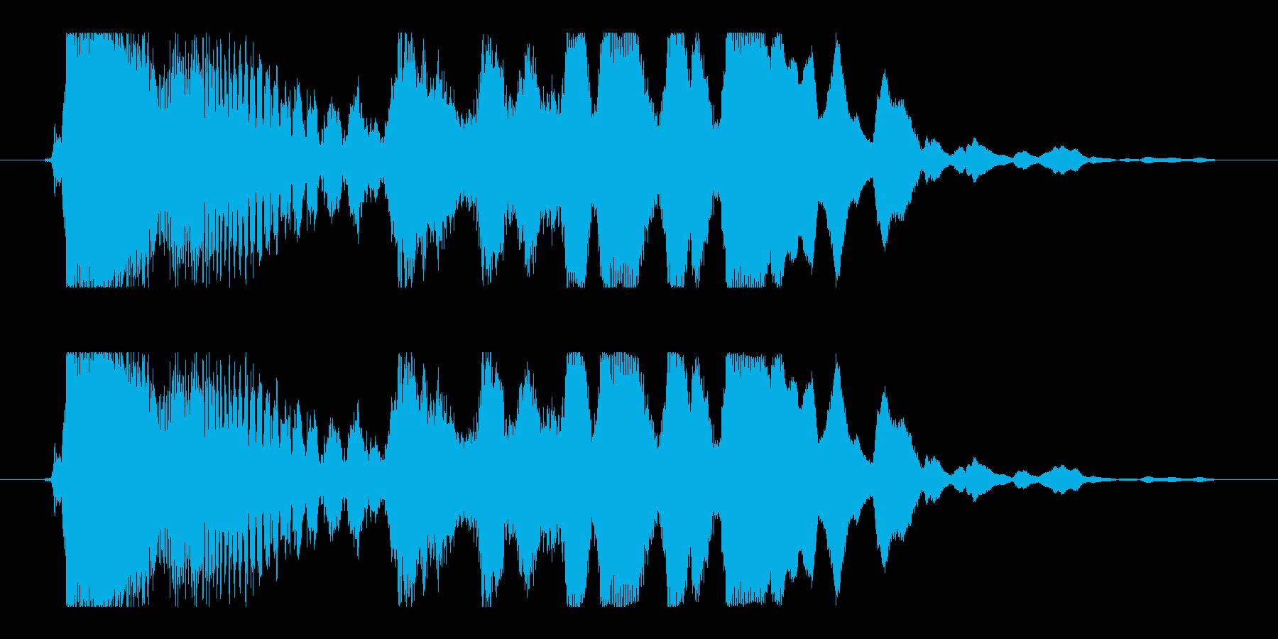 チュイーン(パチンコ当たりの音)の再生済みの波形