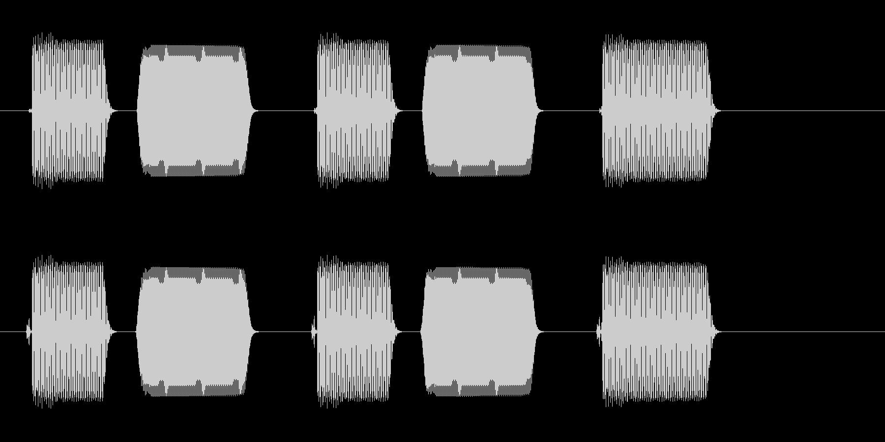 ポピポピプ(音のするスイッチで入力した)の未再生の波形