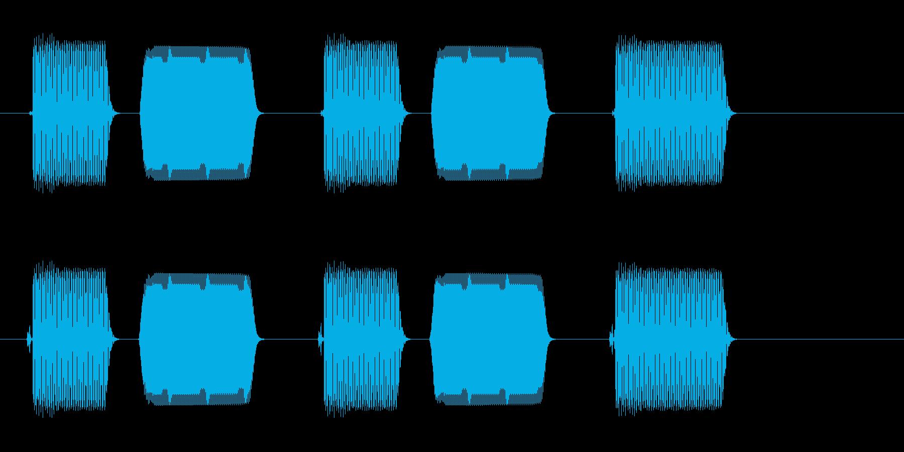 ポピポピプ(音のするスイッチで入力した)の再生済みの波形