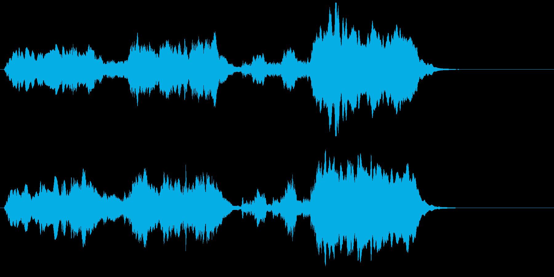 厳かなファンファーレの再生済みの波形