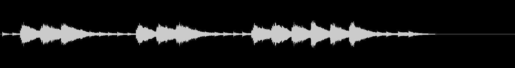 音楽ロゴ;合成オルゴール曲、中視点。の未再生の波形