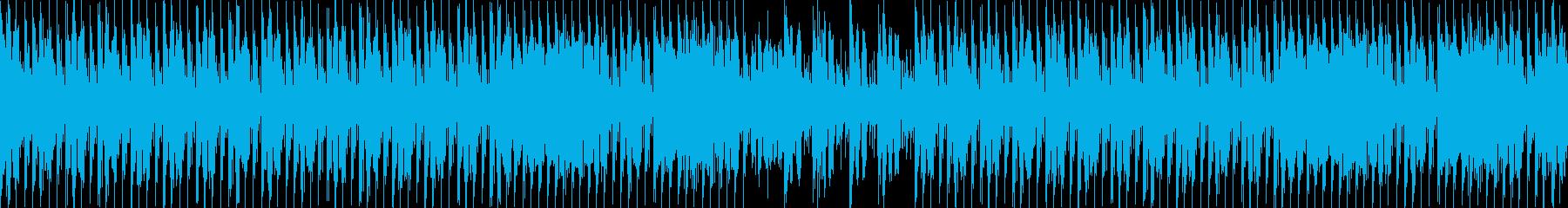 いかにもニュースっぽい4つ打ちポップスの再生済みの波形