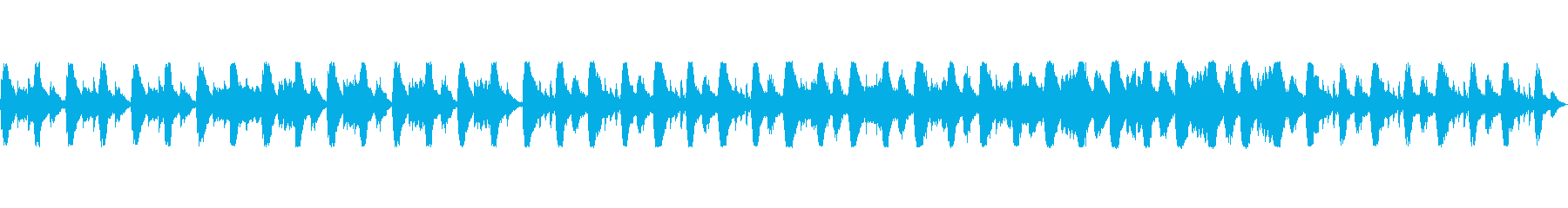 軽快な日常のようなイメージの曲の再生済みの波形