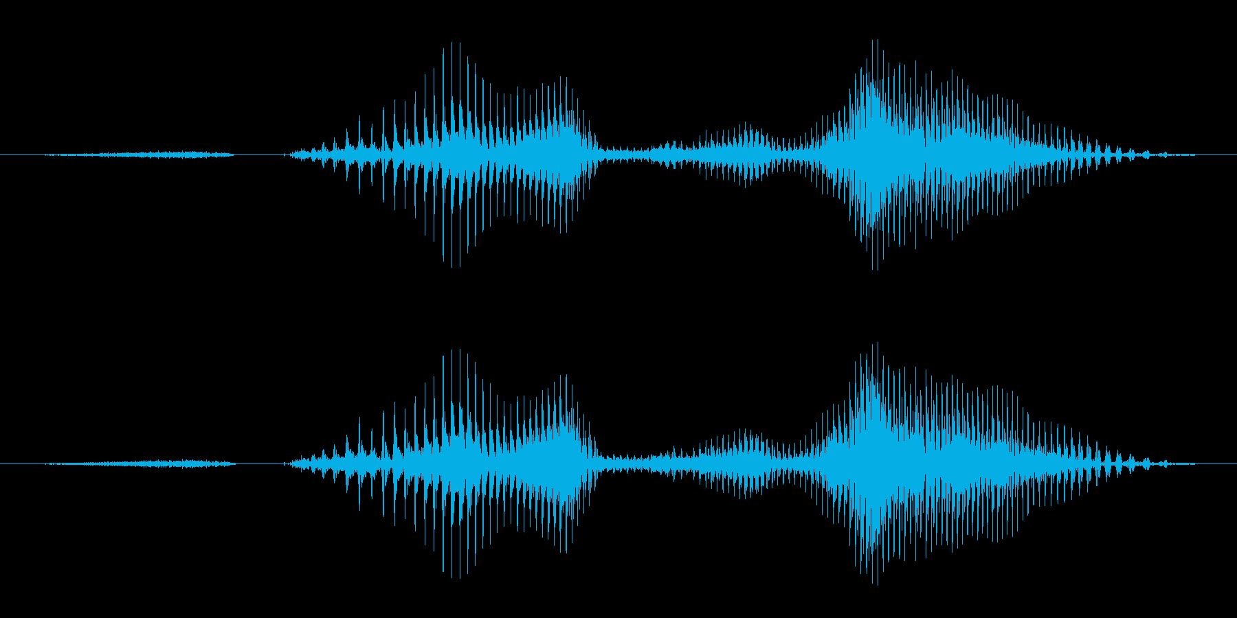 ステージ1の再生済みの波形