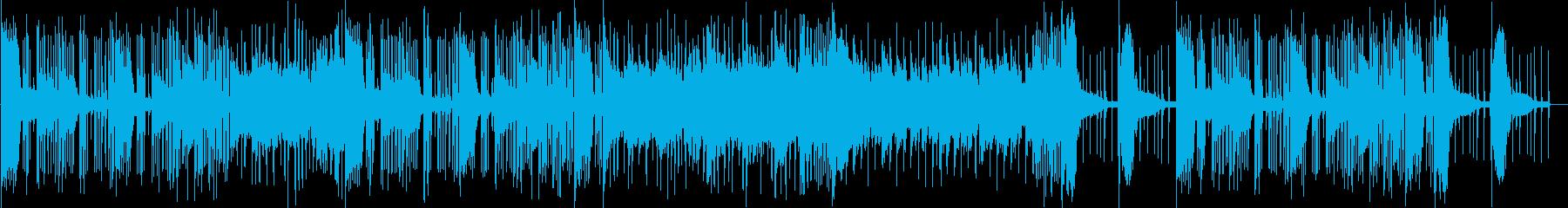 興奮してた様子をイメージ、激しいEDMの再生済みの波形