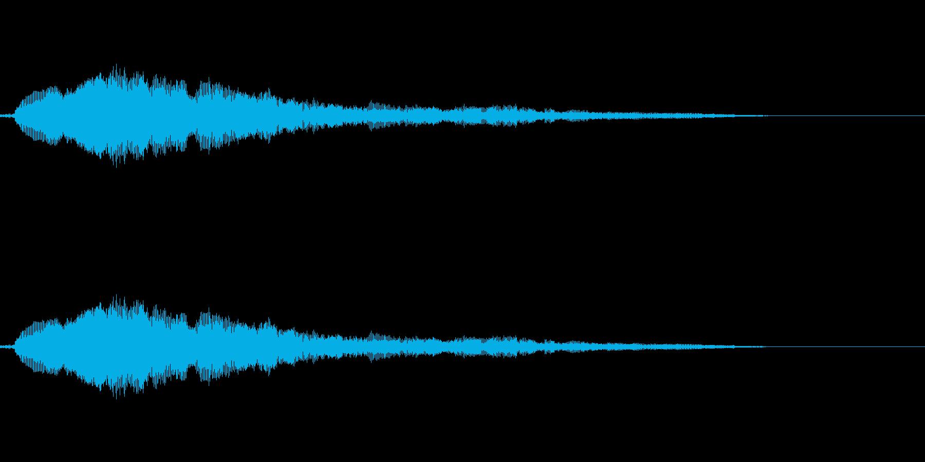 猫の鳴き声 にゃーの再生済みの波形