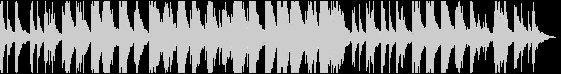 透明感・静けさ ヒーリング系ピアノソロの未再生の波形