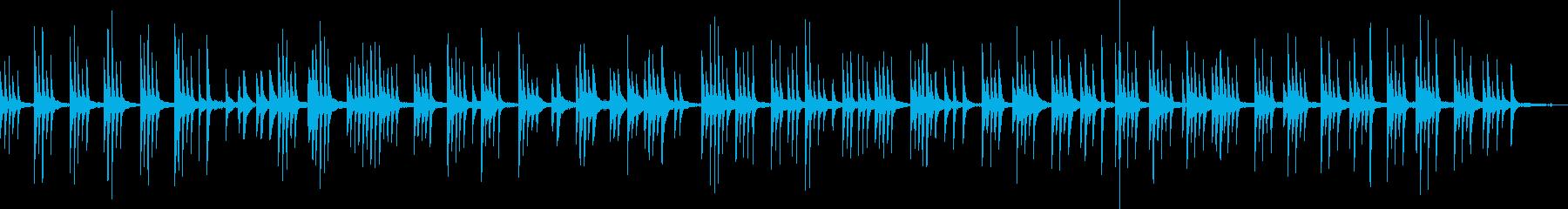 孤独に押しつぶされそうなピアノソロ曲の再生済みの波形