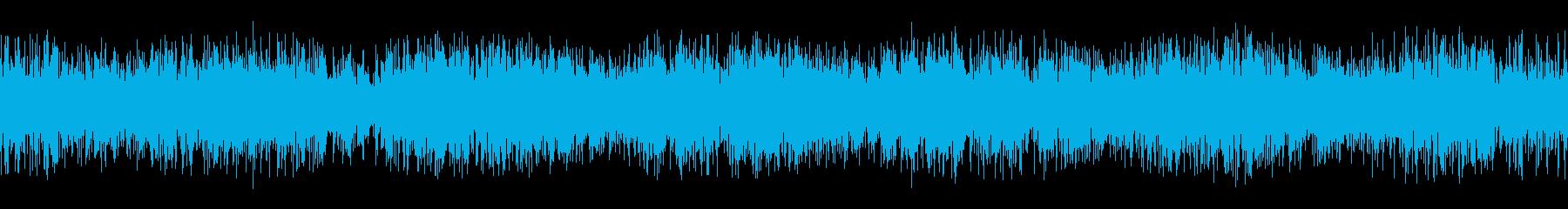特殊効果で巻き戻された加工テープの再生済みの波形