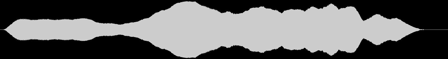 オノマトペ(ゆっくりと上昇)ヒヨーォーゥの未再生の波形