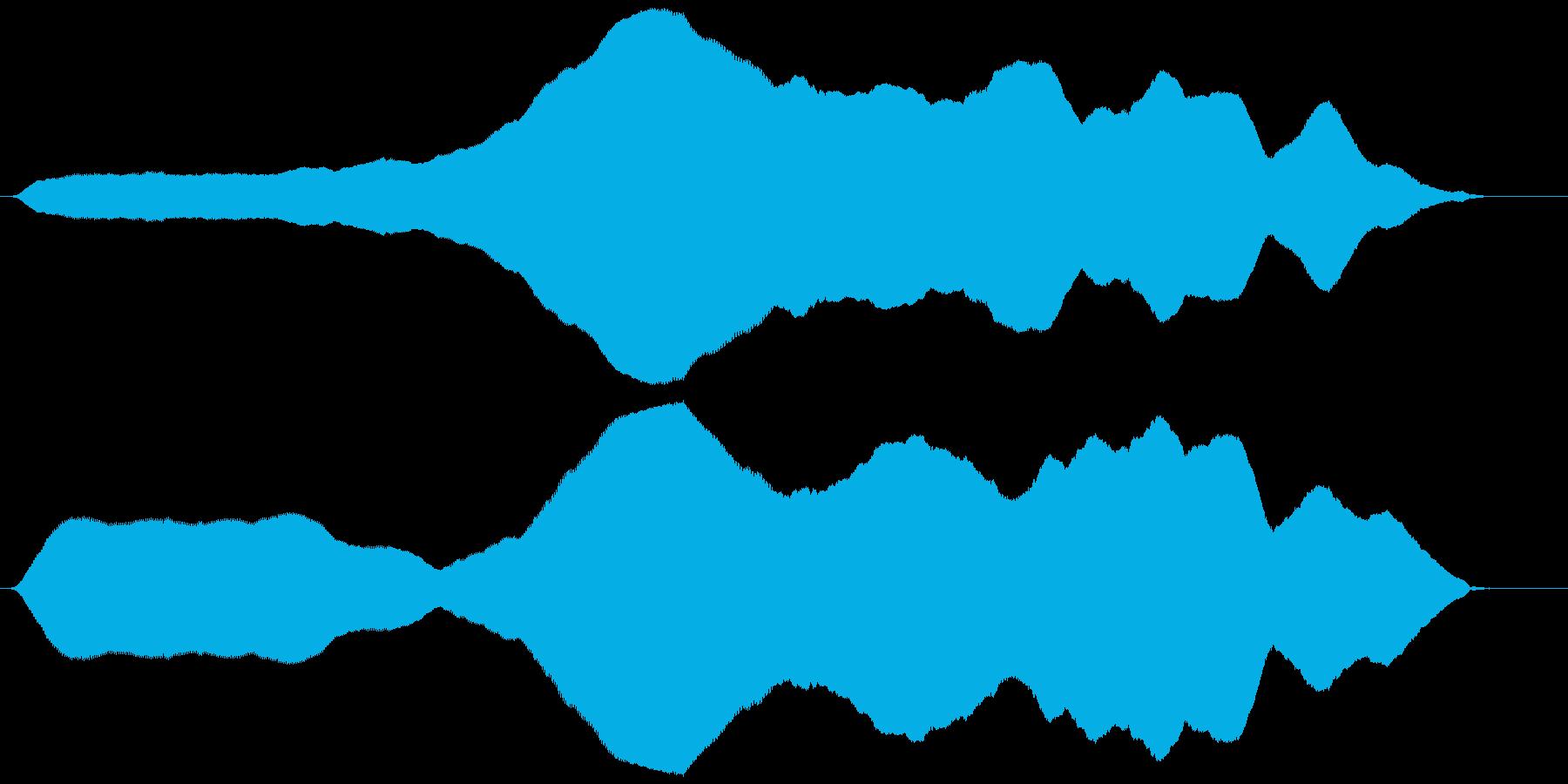 オノマトペ(ゆっくりと上昇)ヒヨーォーゥの再生済みの波形