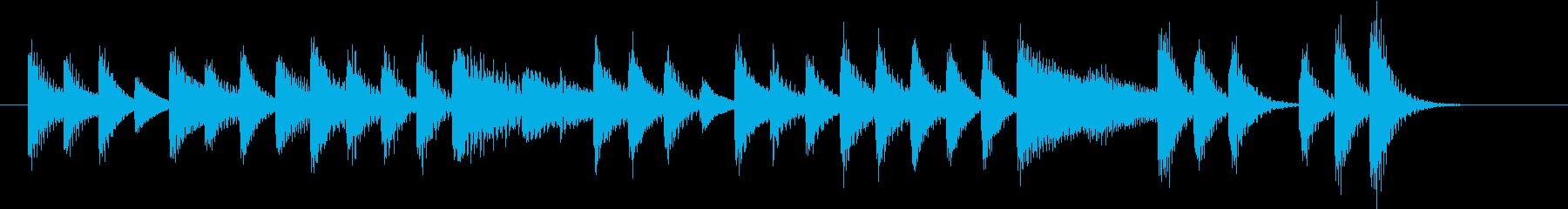 家庭的でのどかな軽快日本風ピアノジングルの再生済みの波形