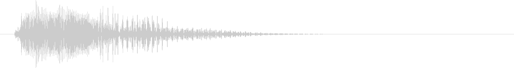 ピコン(カーソル移動音・セレクト・決定)の未再生の波形