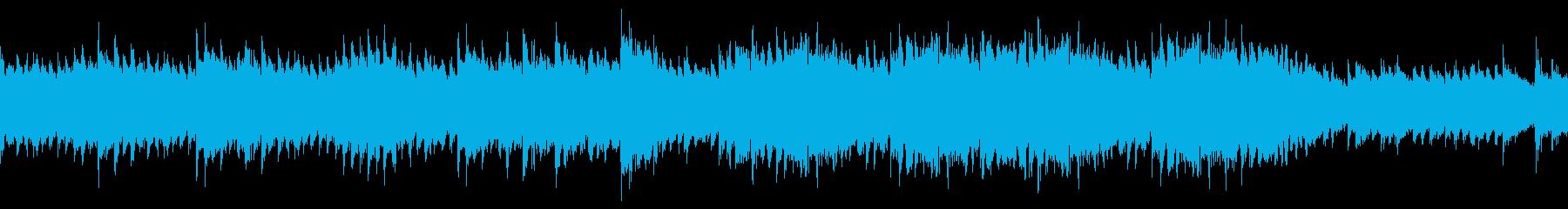 神秘的なピアノのヒーリングの再生済みの波形
