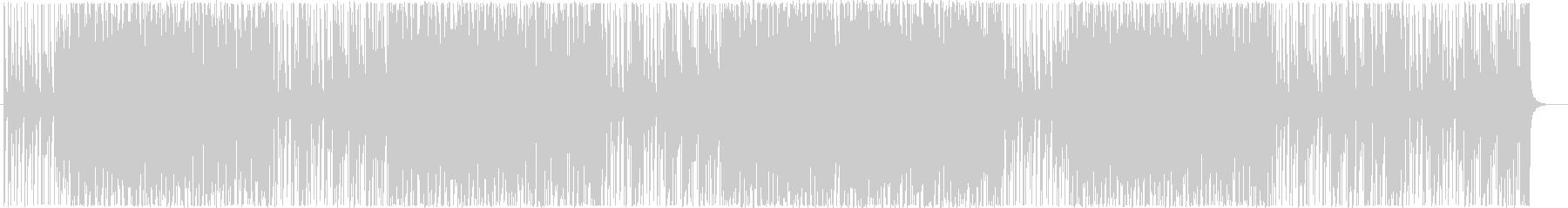 掛け声とクラップが印象的なギターロックの未再生の波形