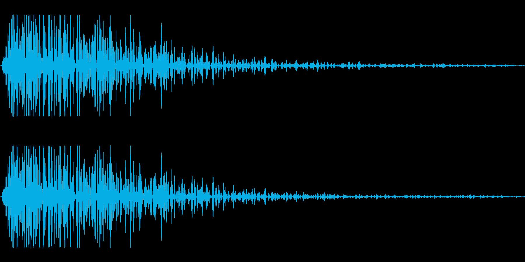 キャンセル、エラー SEの再生済みの波形
