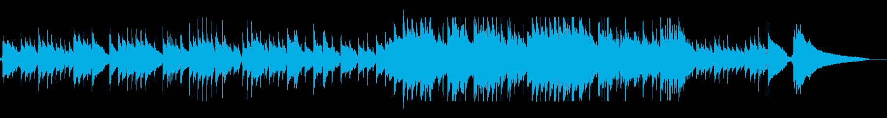 アコースティックで温かいクリスマスBGMの再生済みの波形