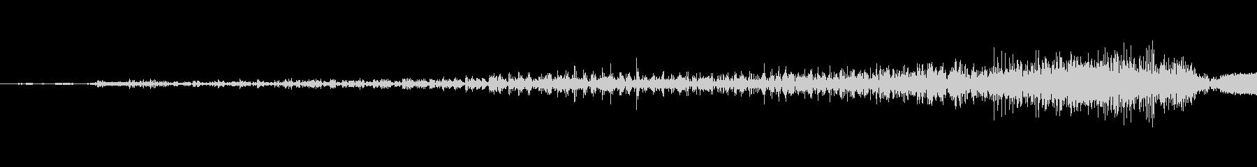 ジッパーを開ける音(ジーッ)の未再生の波形