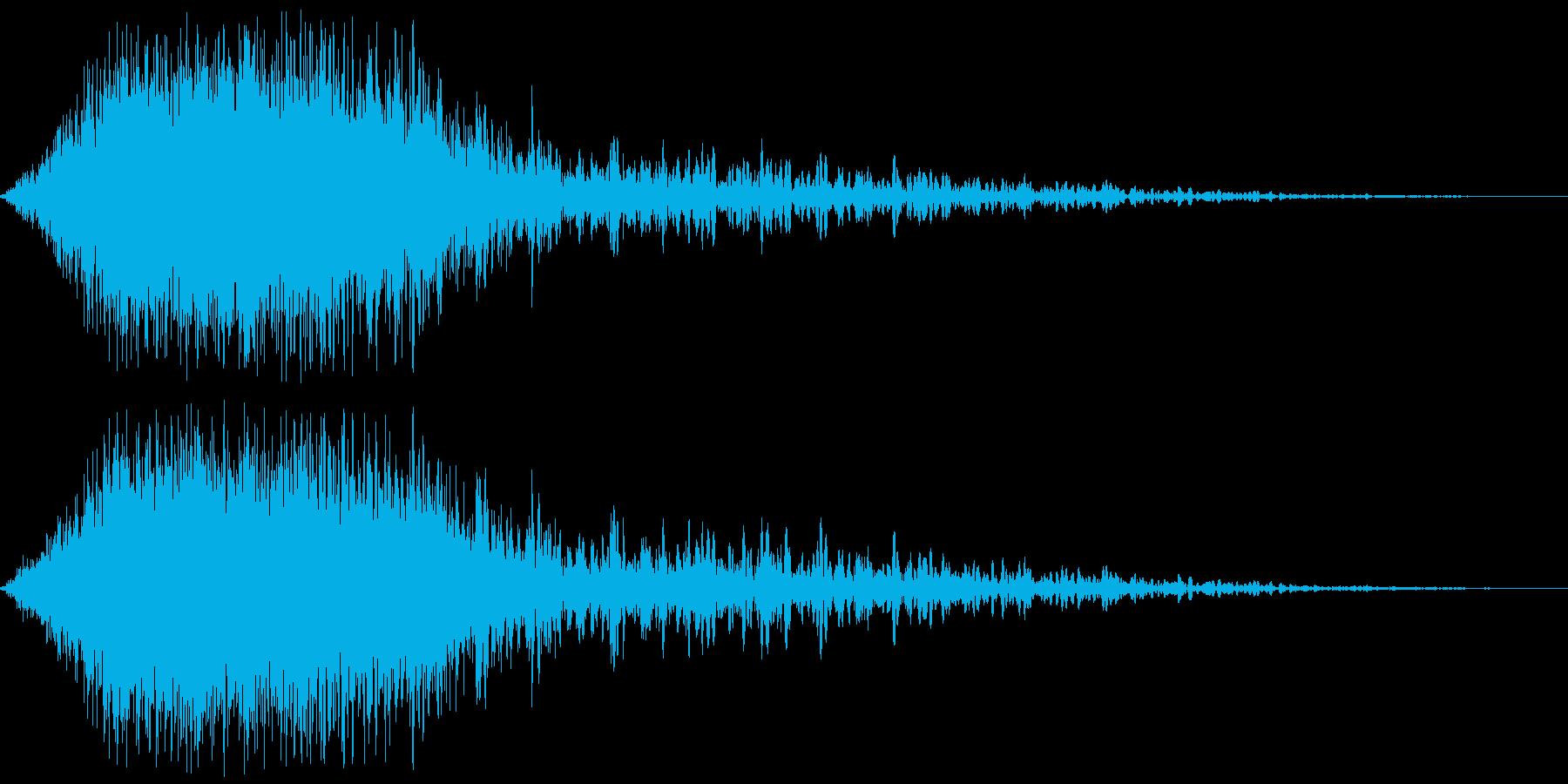 パンチの風切り音(スローモーション)の再生済みの波形