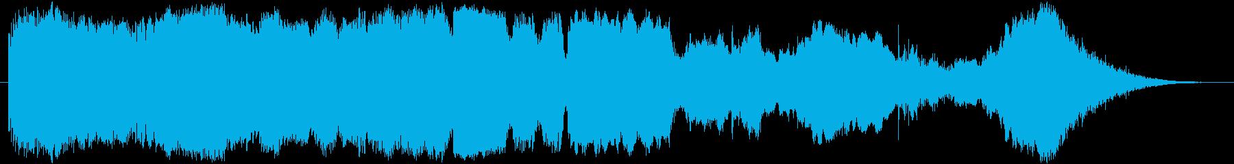 ホラーに合うミステリアスで厳かなBGMの再生済みの波形