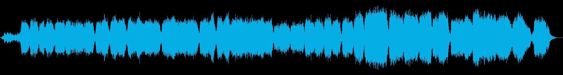 悲しく感動的なコーラス音楽の再生済みの波形