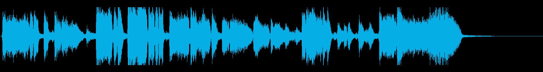 ジャズビッグバンドジングル30秒の再生済みの波形