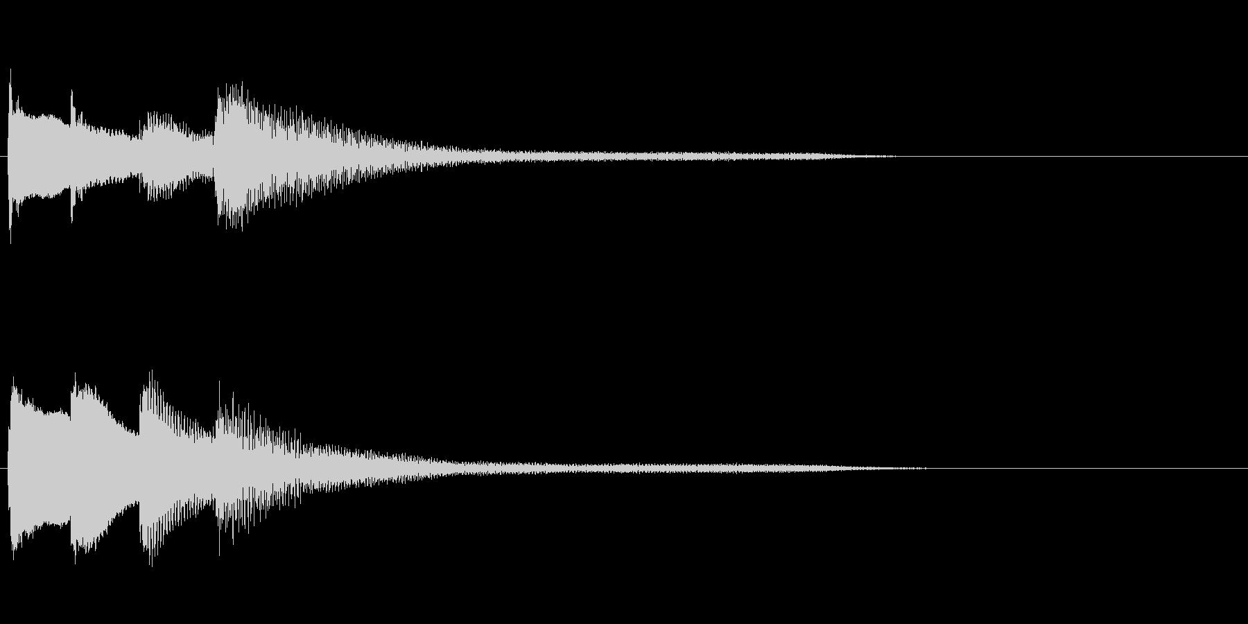 ピアノのシンプルで綺麗なジングルの未再生の波形