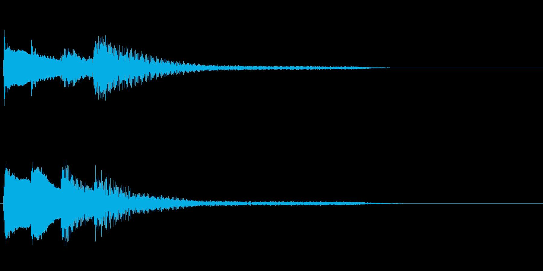 ピアノのシンプルで綺麗なジングルの再生済みの波形