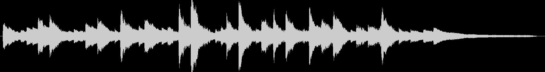 爽やかシンプルなピアノ・30秒広告CMの未再生の波形