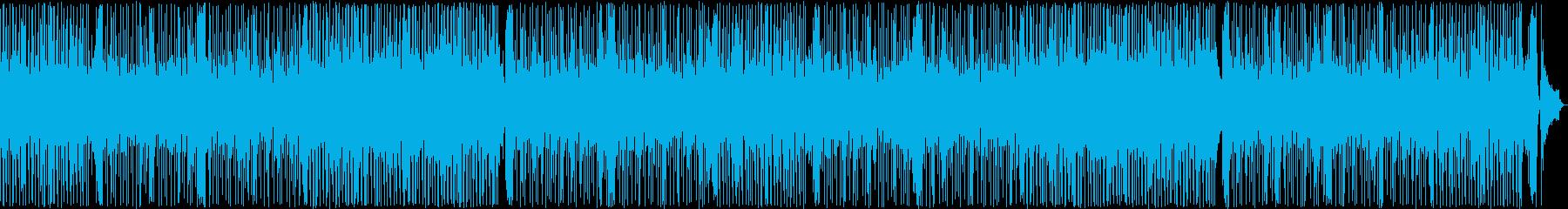 夏の終わりの涼しい風をイメージした曲の再生済みの波形