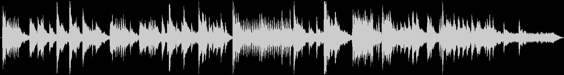 控えめなメロディーのソロピアノ曲の未再生の波形