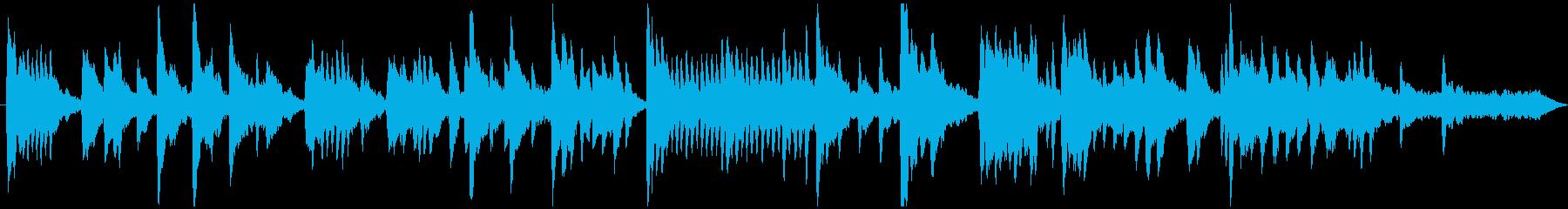 控えめなメロディーのソロピアノ曲の再生済みの波形