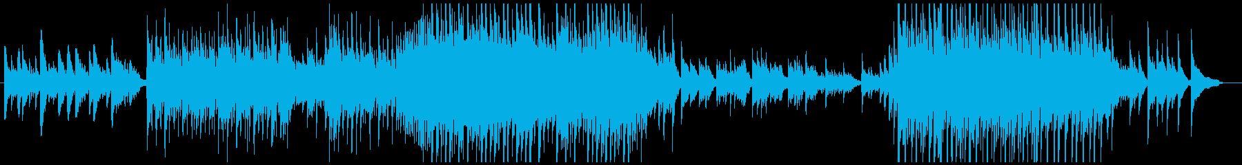 前向きなピアノ曲の再生済みの波形