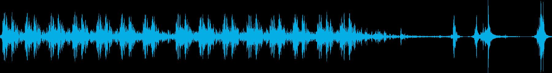 銃声 装填音の再生済みの波形