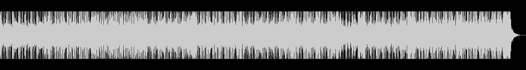 オルガンのキレが良く明るいファンク風の未再生の波形