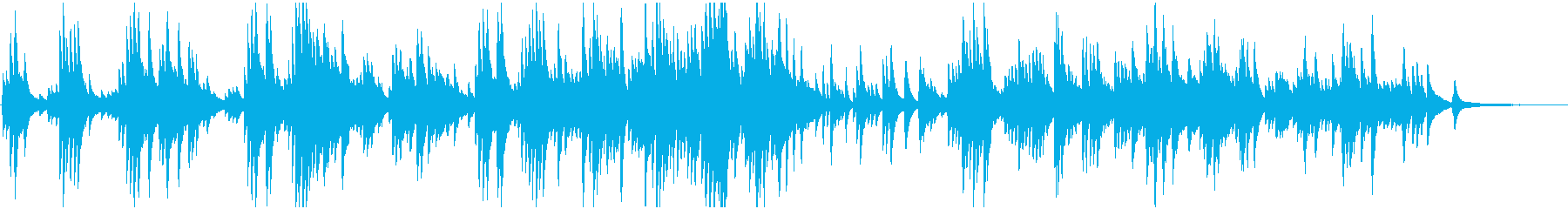 美しく感動的で壮大なピアノバラードの再生済みの波形