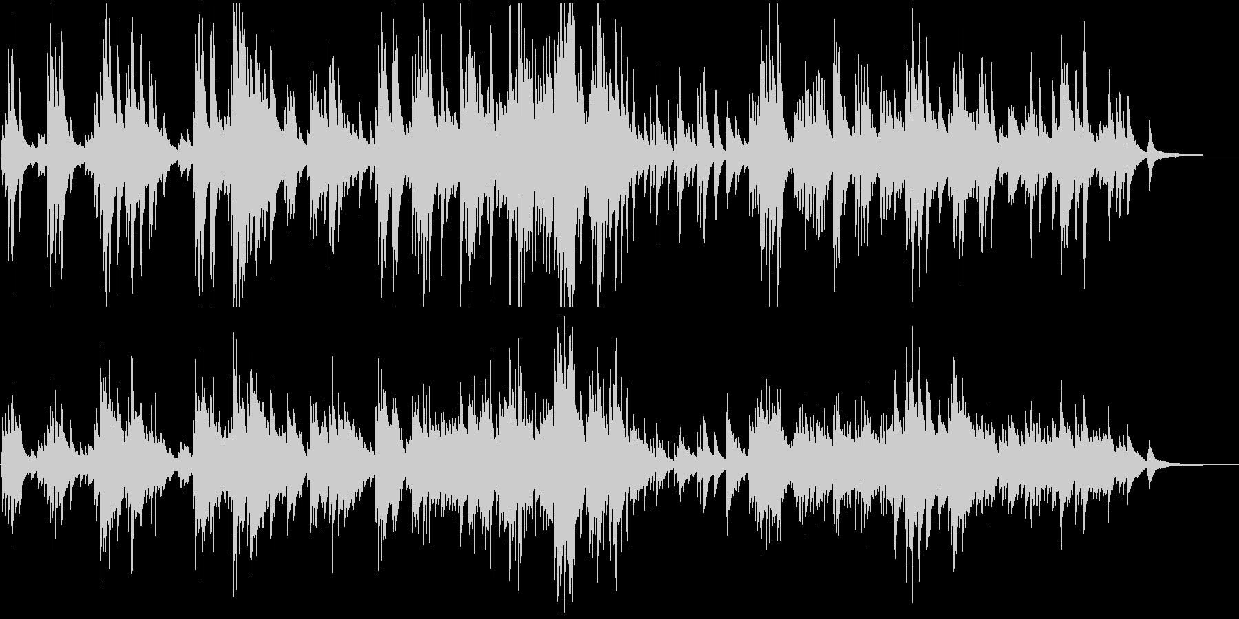 美しく感動的で壮大なピアノバラードの未再生の波形
